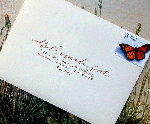 Wedding Invitation Address Labels Font 500 X 413