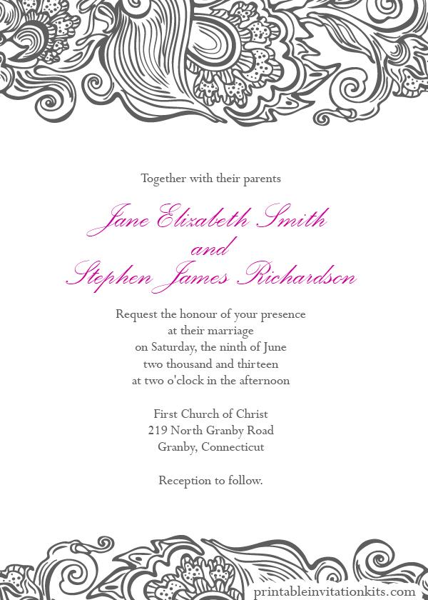 Wedding Invitation Borders Templates