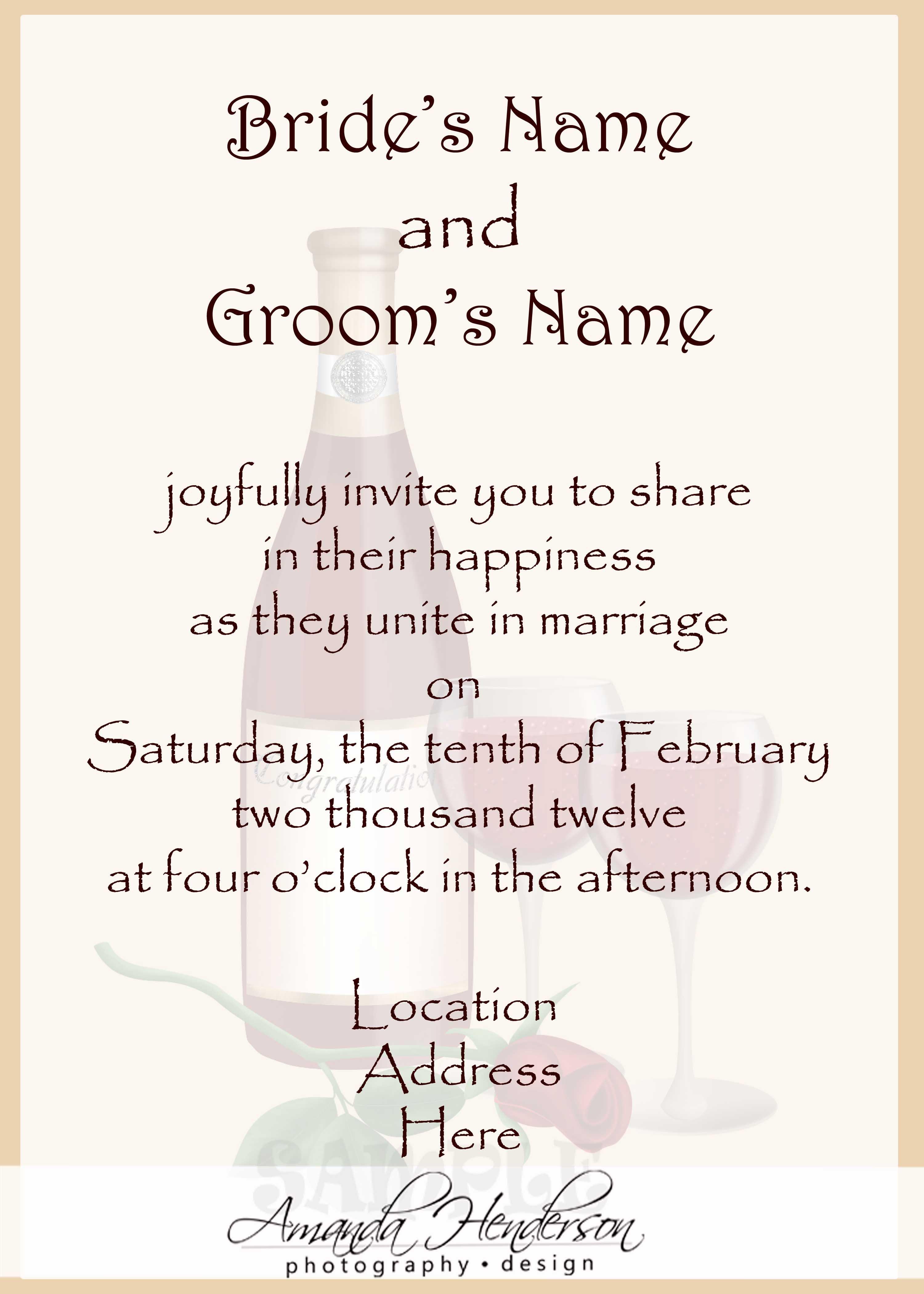 Wedding Invitation Etiquette Wording