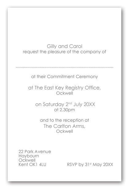 Wedding Invitation Inserts Wording Examples