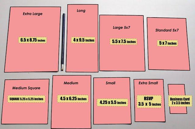 Wedding Invitation Sizes: Wedding Invitation Paper Size
