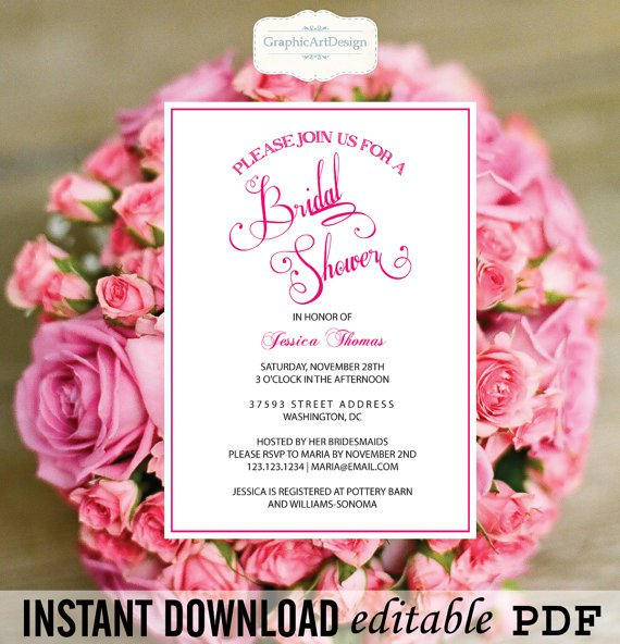 Wedding Invitation Pdf Print Yourself