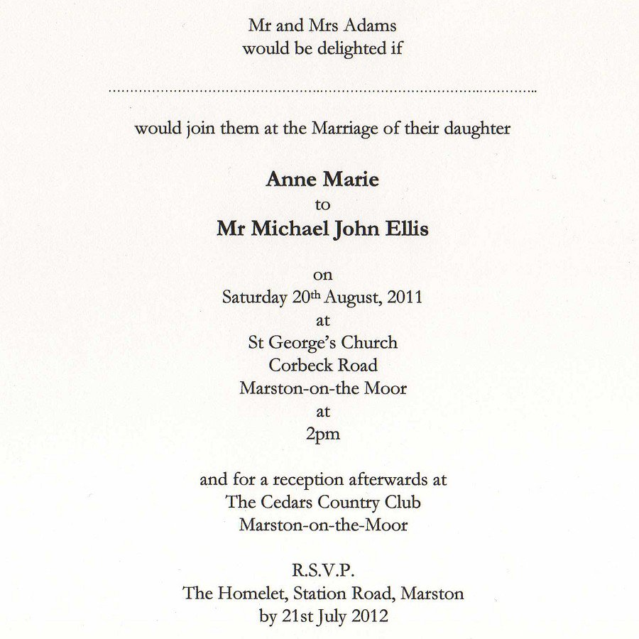 Wedding Invitation Wording Ideas From Bride And Groom