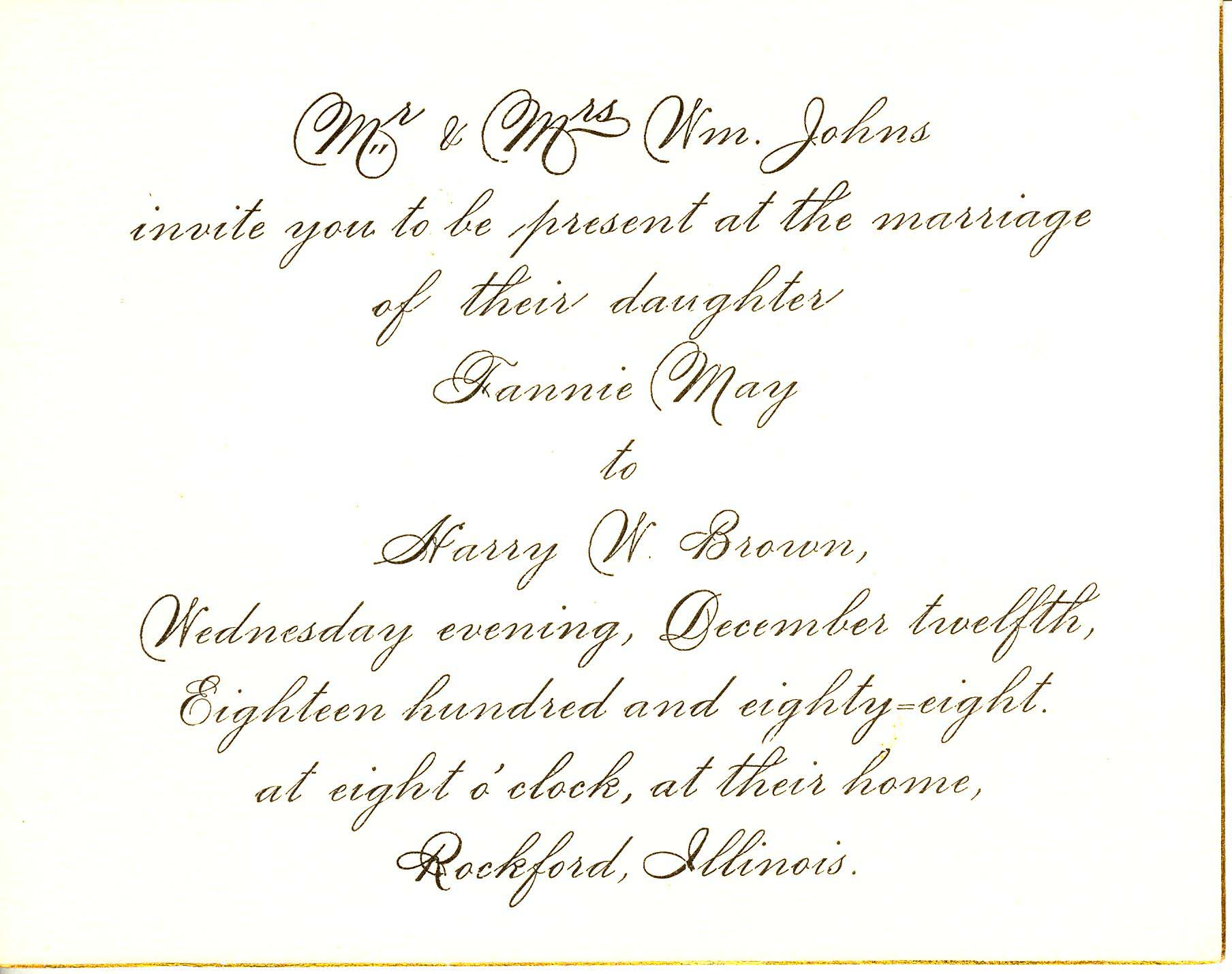 Wedding Lunch Invitation Sample