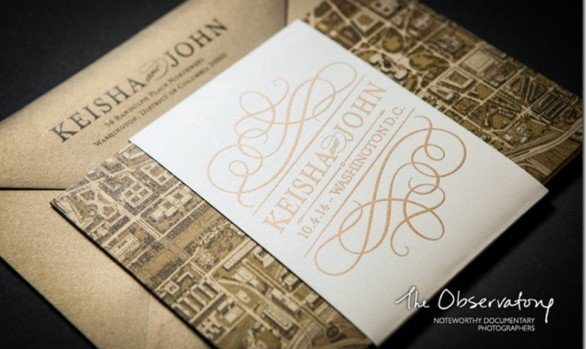 Wedding Reception Custom Invitations