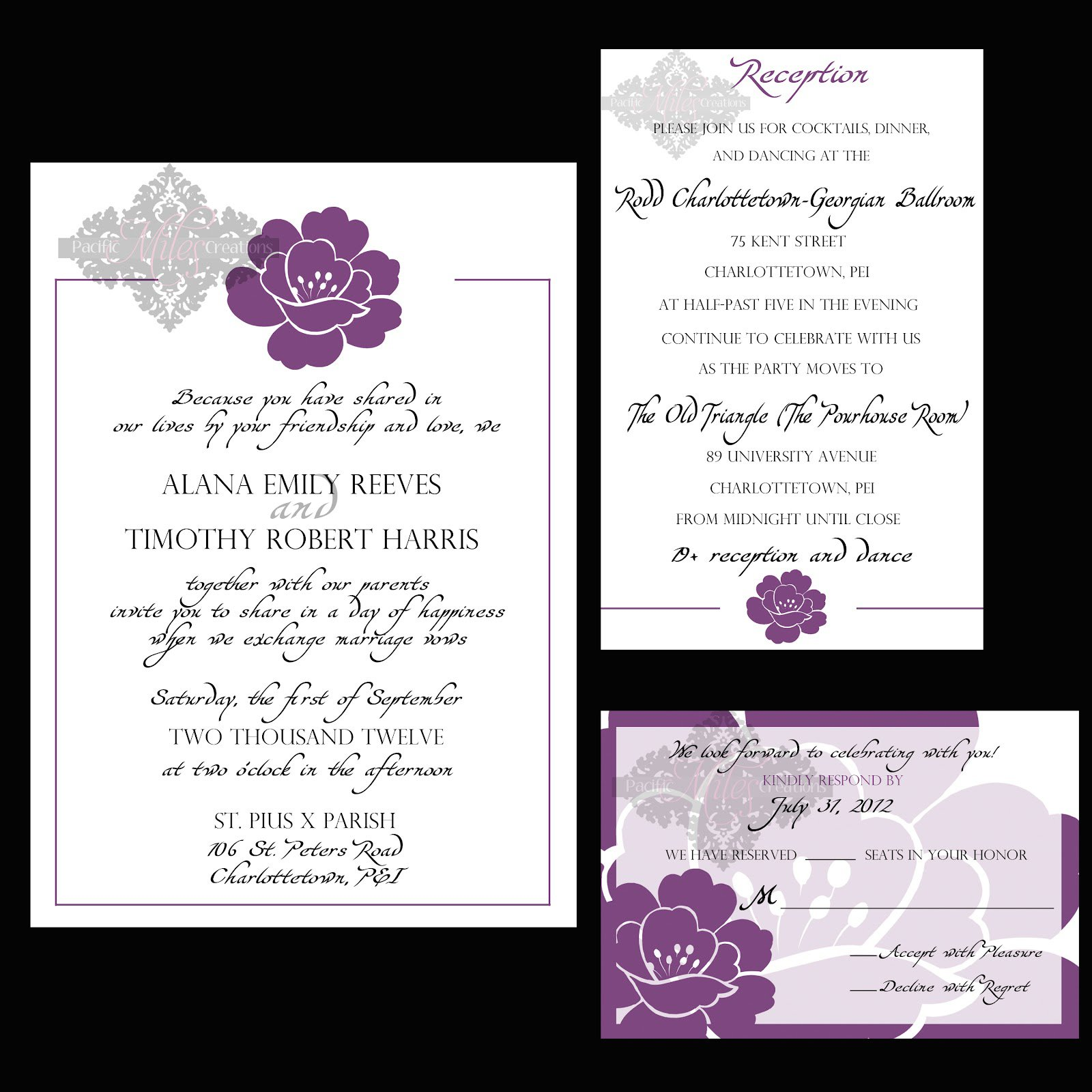 Wedding Reception Invitations Wording