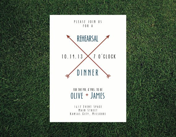 Wedding Rehearsal Dinner Invitation Wording
