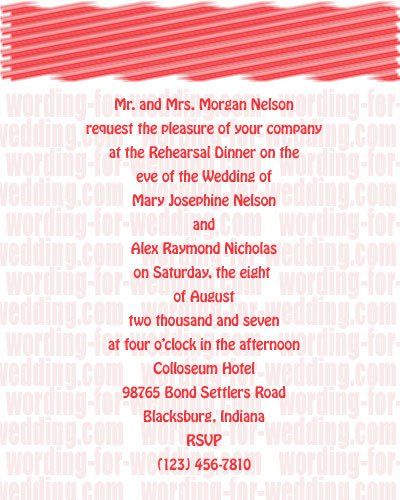 Wedding Rehearsal Dinner Invitation Wording Etiquette