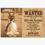 Western Wanted Birthday Party Invitation