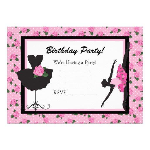White Girls Birthday Invitation Blank