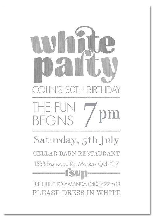 white party invitation template
