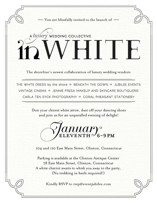 White Party Invitations Wording