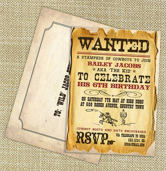 Wild West Party Invitations
