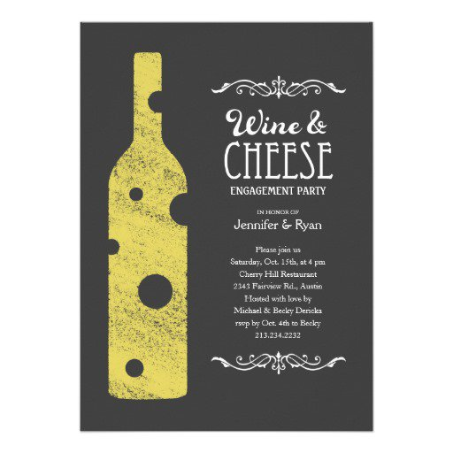 Wine And Cheese Party Invitations Wording