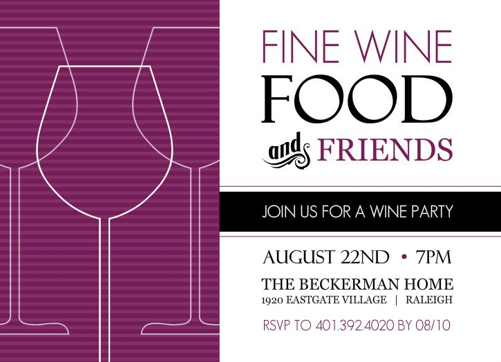 Wine Party Invitation Templates Free