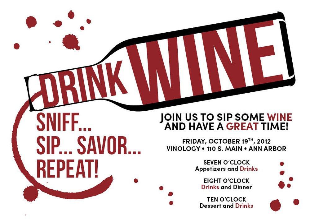 Wine Party Invitations Templates