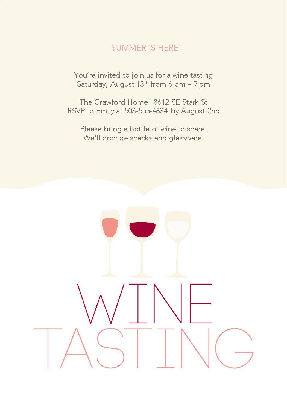 Wine Tasting Invites Templates