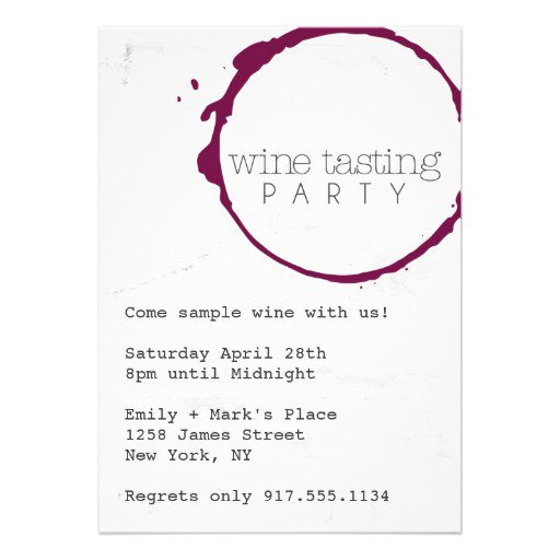 Wine Tasting Party Invitation Ideas