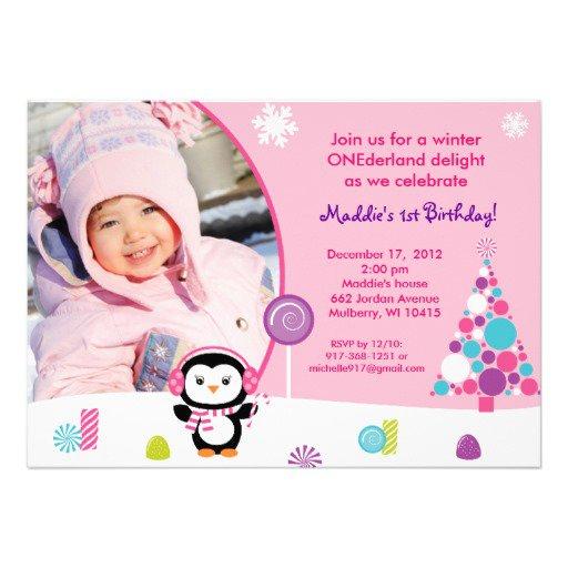 Winter Birthday Invitations