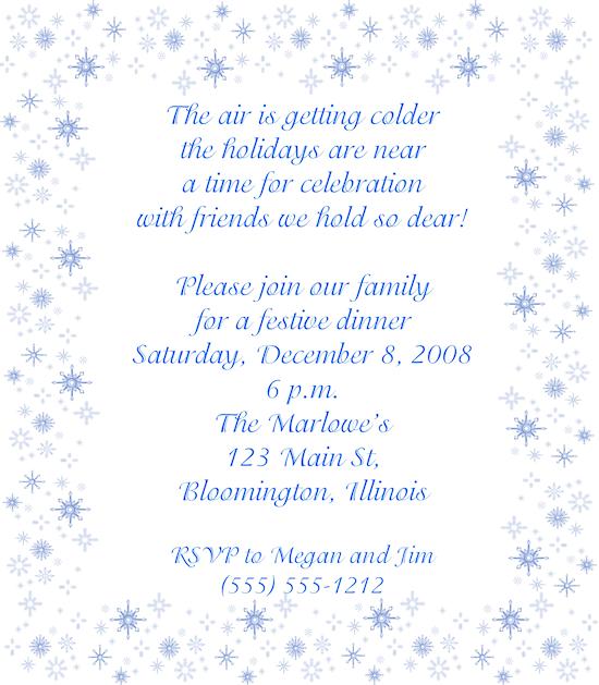 Winter Birthday Invitations Free
