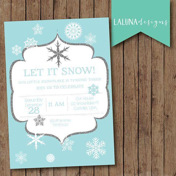 Winter Birthday Invitations Printable