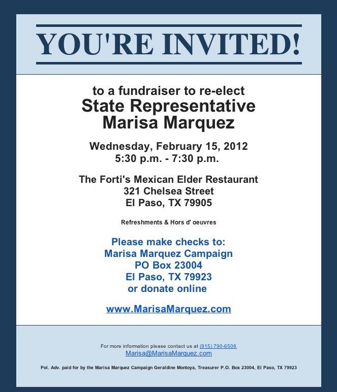 Wording For Fundraiser Event Invitations – Fundraising Invitation Samples