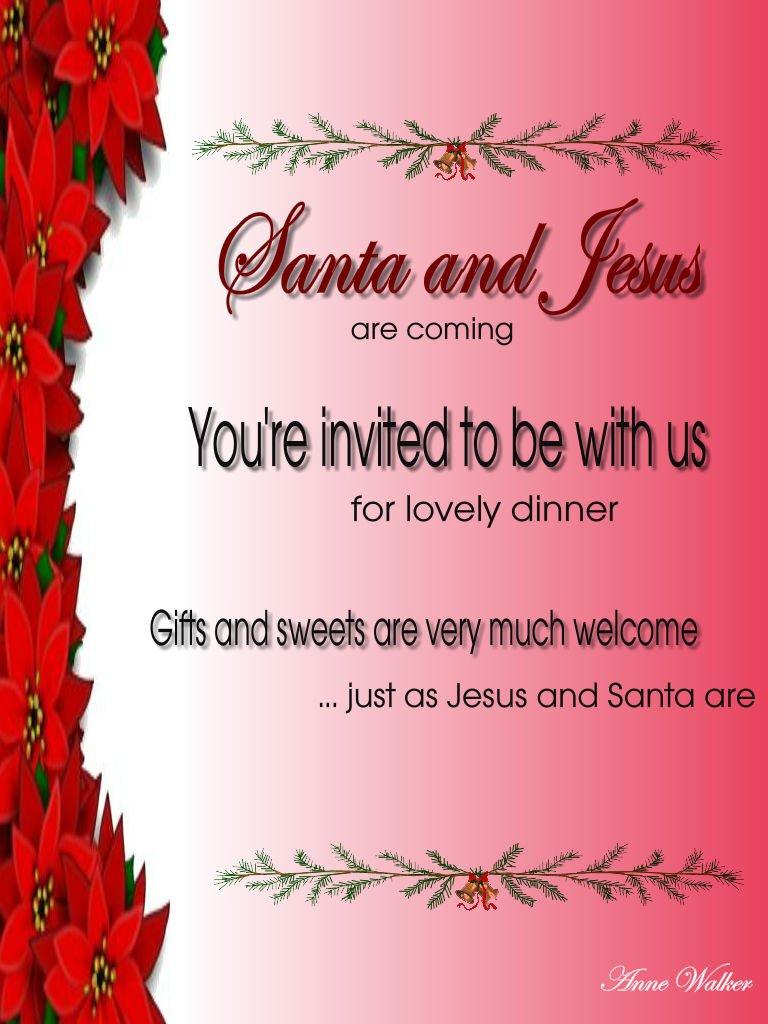 Xmas Party Invitation Wording