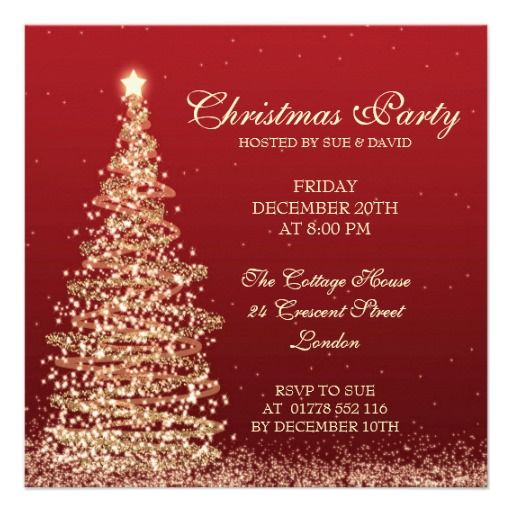 Xmas Party Invitations For Work