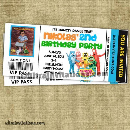 Yo Gabba Gabba Printable Birthday Invitations