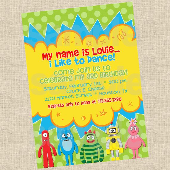 Yo Gabba Gabba Printable Invitations