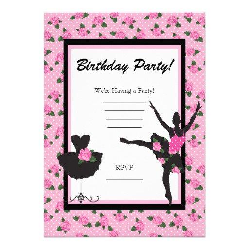 Zebra Party Birthday Invitations Blank