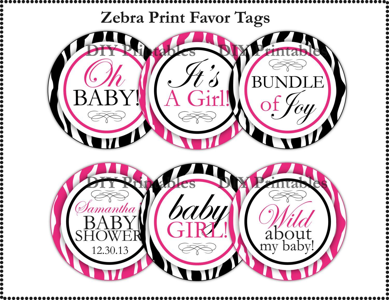 Zebra Print Baby Boy Shower