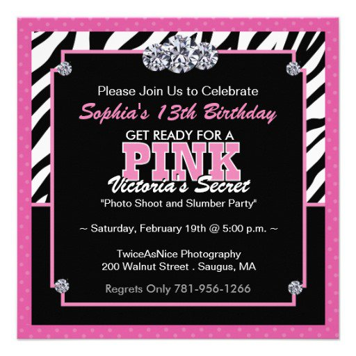 Zebra Print Birthday Invitation Templates