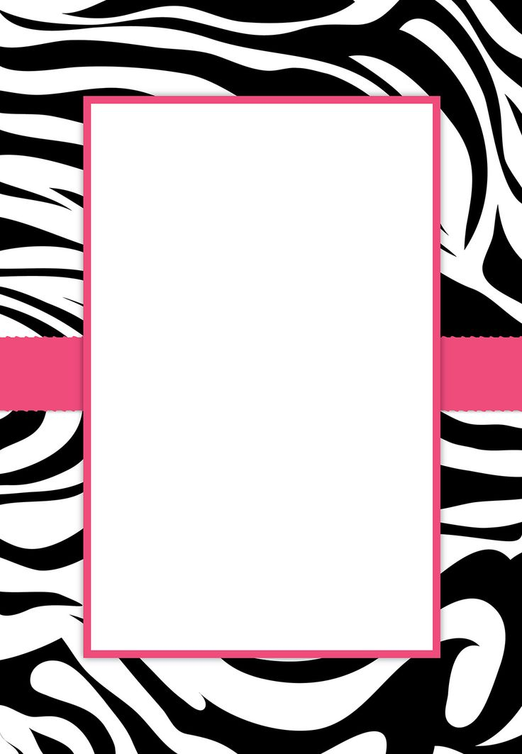 Zebra Print Party Invitations Templates