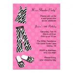 Zebra Print Slumber Party Invitations