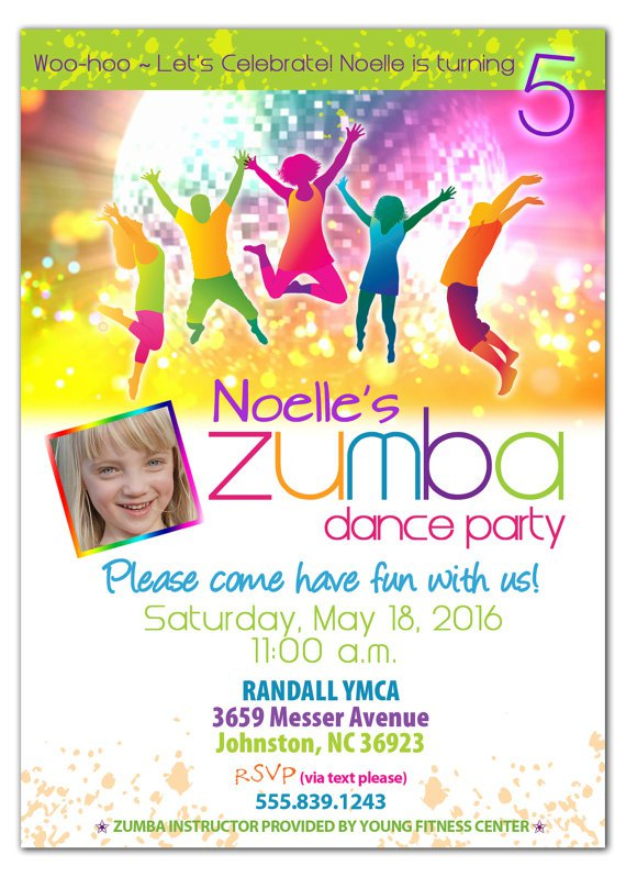 Zumba Dance Party Invitations