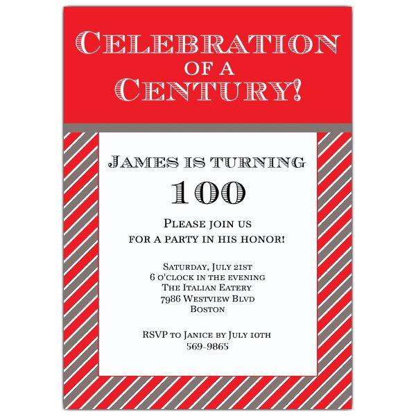 100th Birthday Invitation Printables