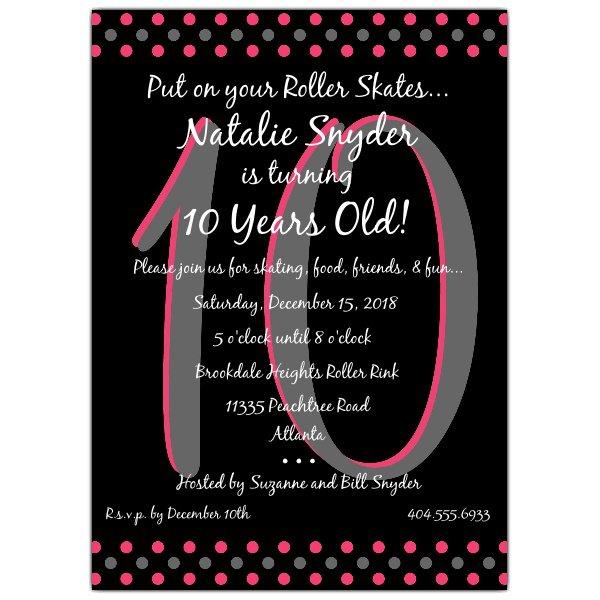 10 Girls Birthday Invitation Wording
