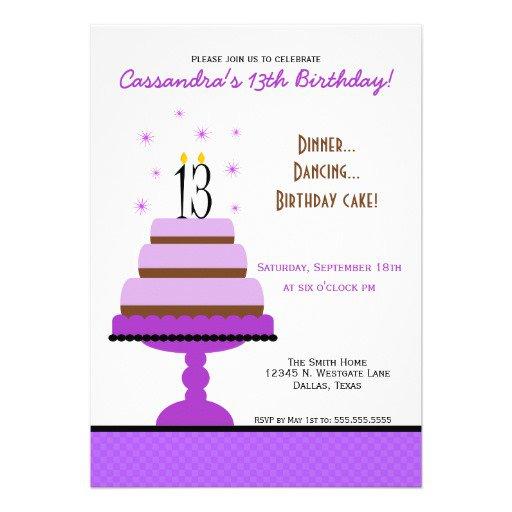 13th Birthday Invitation Maker