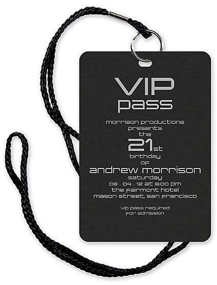 13th Birthday Invitation Vip Pass