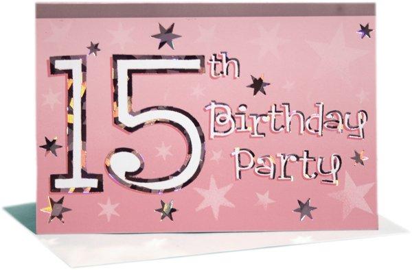 15th Birthday Invitation Sayings