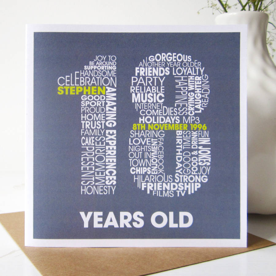 18th Birthday Invitation Card