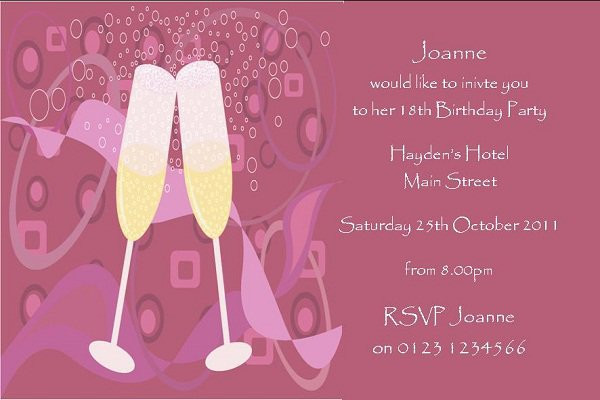 18th Birthday Invitation Sample