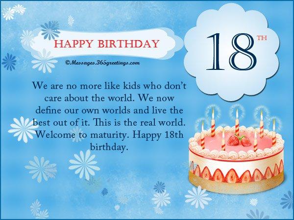 18th Birthday Sample Invitation Card