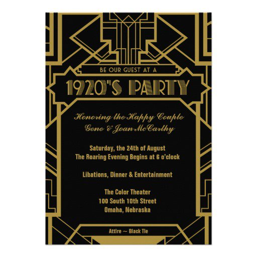 1920s -style Invitations