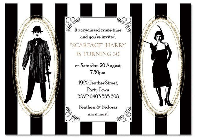 1920s Invitation Wording