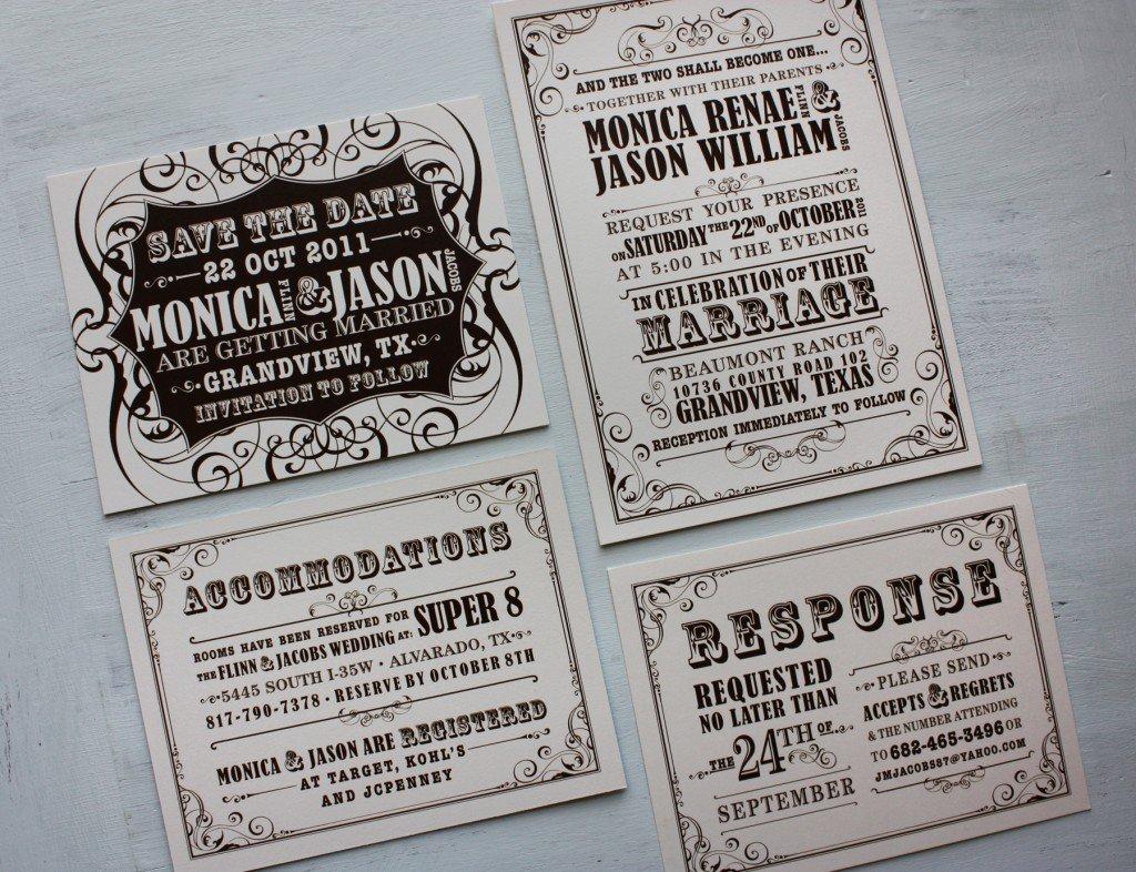 1940s Style Wedding Invitations