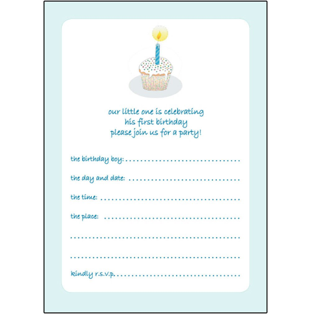 1 Year Old Party Invitations