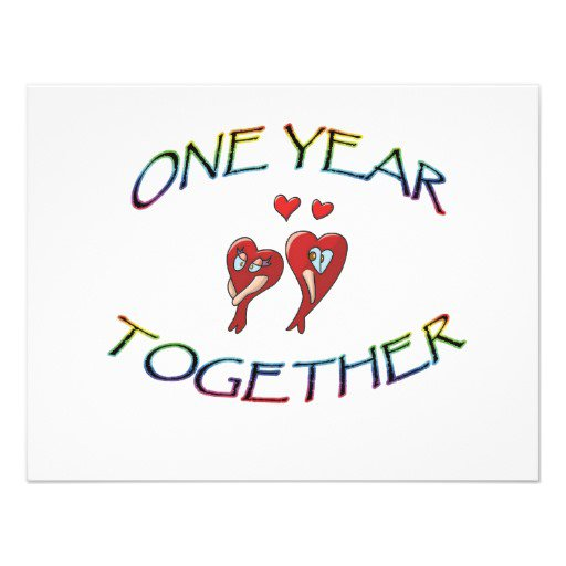1st Anniversary Invitations