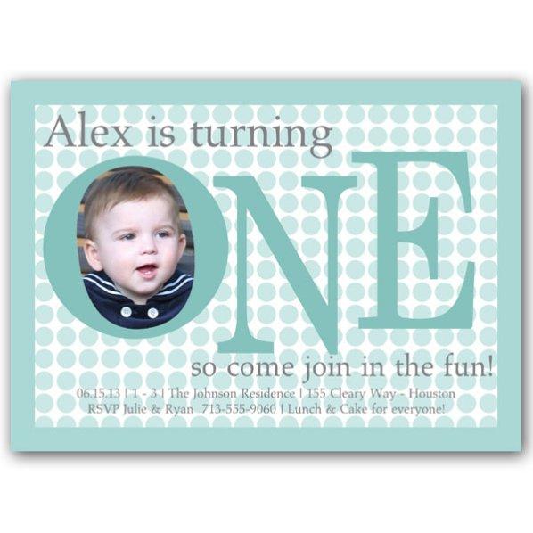 1st Birthday Baby Boy Invitation Wording